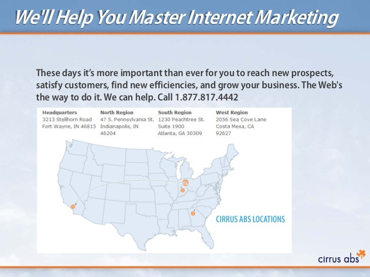 Well Help You Master Internet Marketing  These days it's more important than ever for you to reach new prospects,  satisfy...