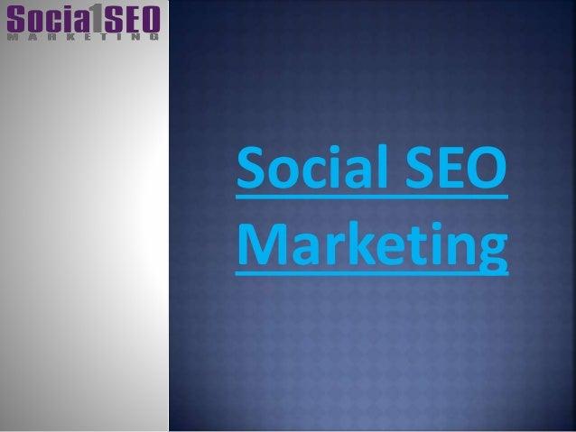 Social SEO Marketing