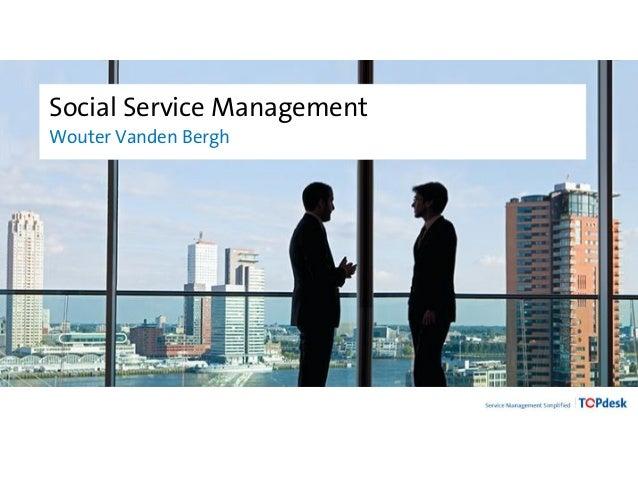 Social Service Management Wouter Vanden Bergh