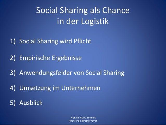 Social Sharing als Chance in der Logistik Slide 2