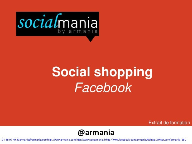 Social shopping                                          Facebook                                                         ...