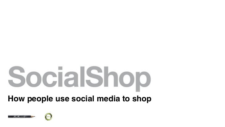 How people use social media to shop