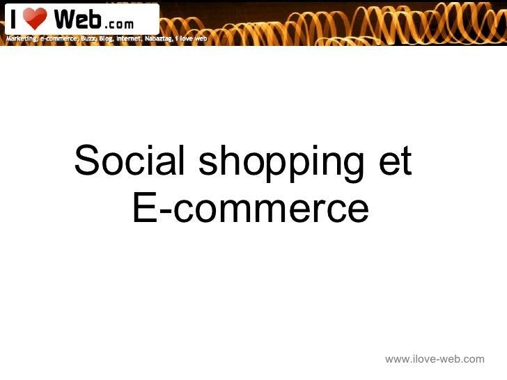 Social shopping et  E-commerce