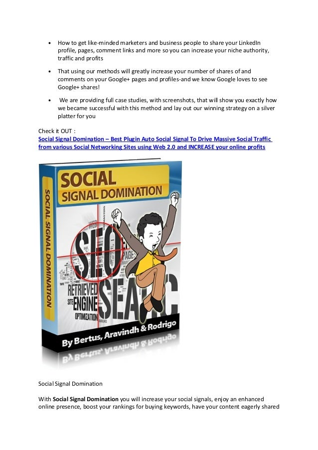 Social signal domination review – Best Plugin Auto Social Signal To D…