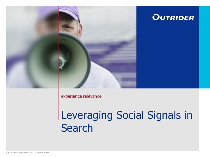 Leveraging Social Signals in Search<br />
