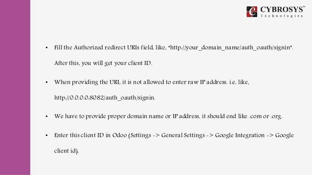 Social Site Authentication In Odoo v10