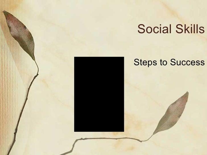 Social Skills Steps to Success