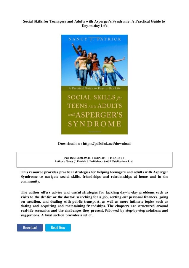 Social skills for young adults with aspergers was