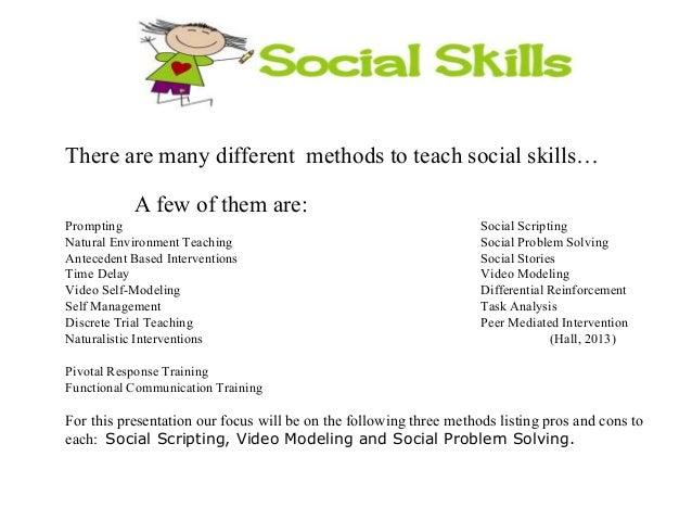 social skills training for adults pdf