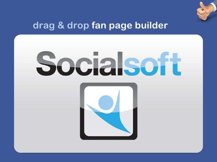 drag & drop  fan page builder