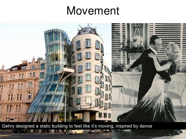 Movement Gehry designed a static building to feel like it's moving, inspired by dance