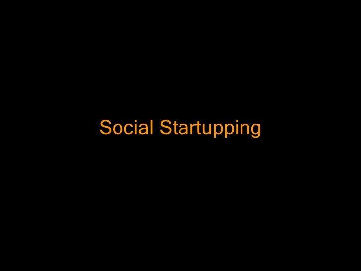 Social Startupping