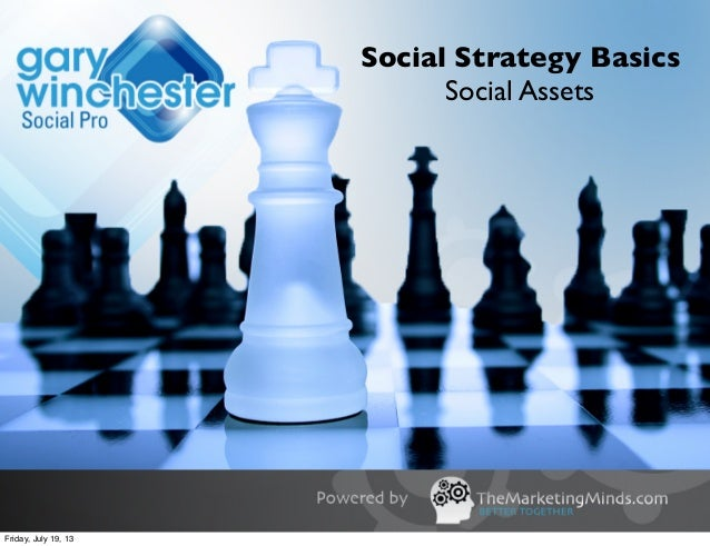 Social Strategy Basics Social Assets Friday, July 19, 13