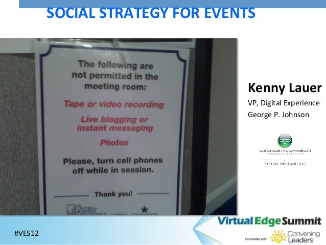 SOCIAL STRATEGY FOR EVENTS                                                  Kenny Lauer                       ...