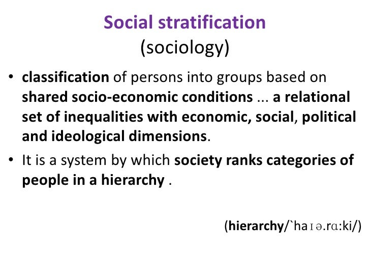 political stratification definition