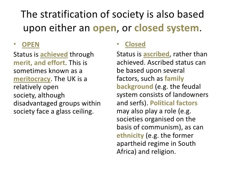 open system of social stratification