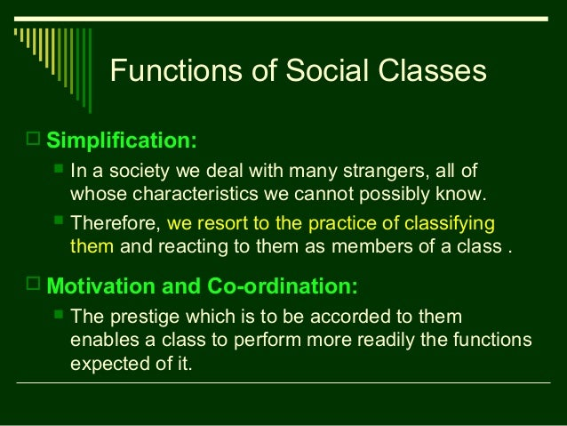 functionalist theory of social stratification pdf