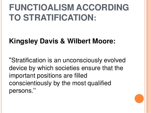 what are the three key arguments of the davis and moore thesis of social stratification