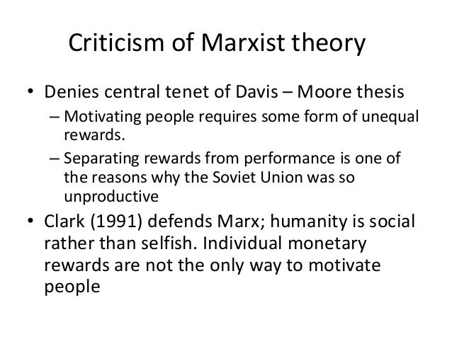 davis moore thesis pdf