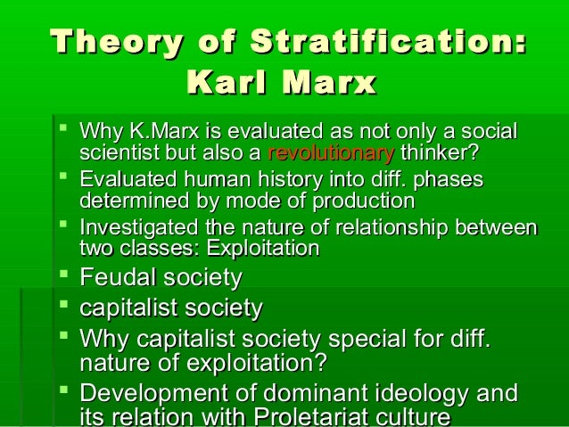 an analysis of social stratification systems (i) according to davis, social stratification has come into being due to the functional necessity of the social system (ii) professor sorokin attributed social stratification mainly to inherited difference in environmental conditions.