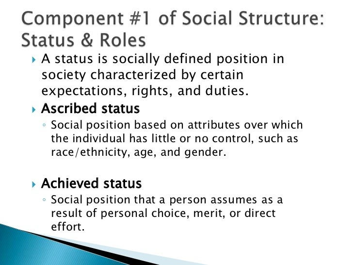 ascribed status sociology definition