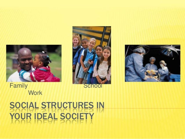 Family          School         WorkSOCIAL STRUCTURES INYOUR IDEAL SOCIETY