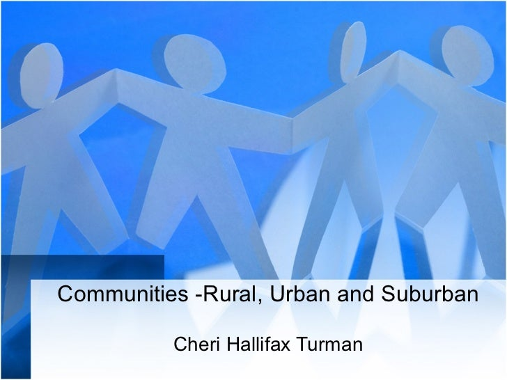 rural and urban community pdf