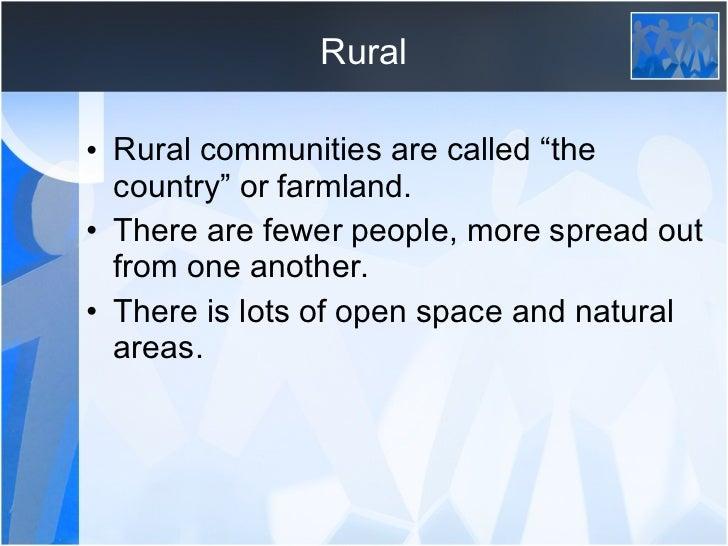 rural and urban community pdf
