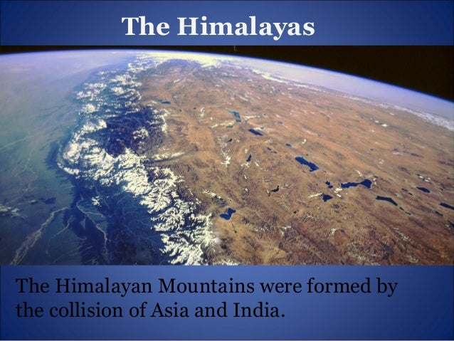How mountains were formed?