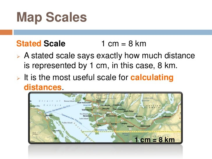 Geography Skills Scale - Us map with km scale