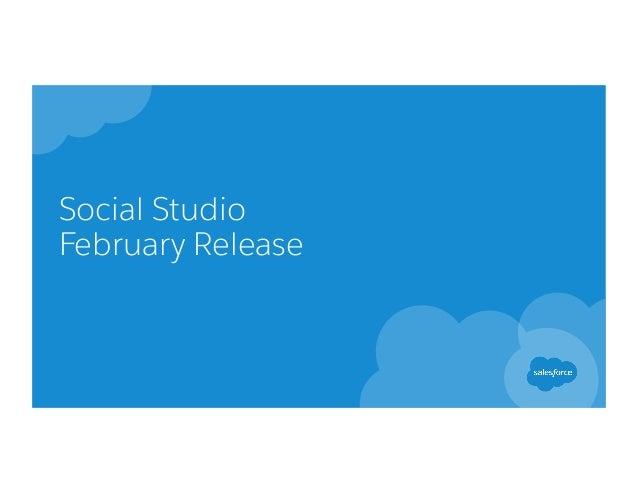 Social Studio February Release