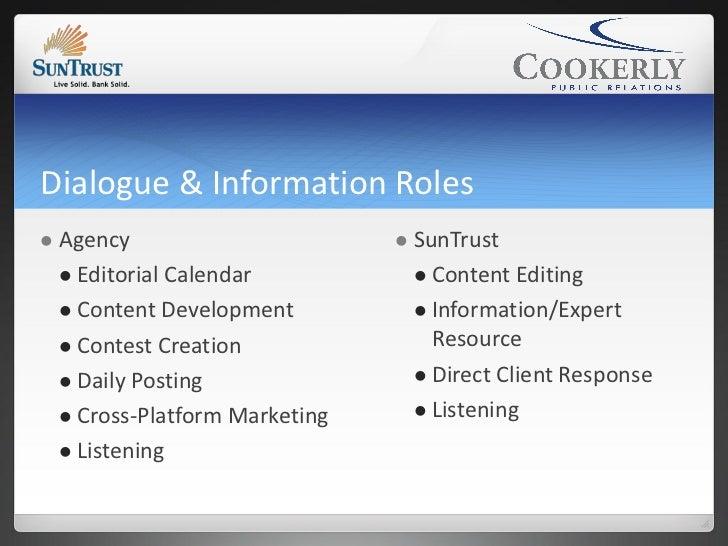 Dialogue & Information Roles   Agency                          SunTrust     Editorial Calendar              Content Ed...