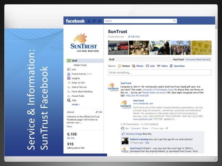 Service & Information:SunTrust Facebook