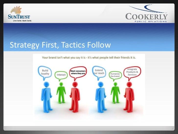 Strategy First, Tactics Follow