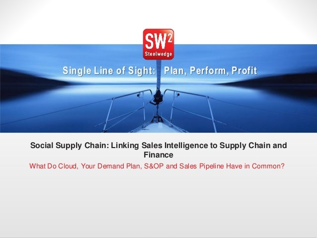 Single Line of Sight: Plan, Perform, Profit Social Supply Chain: Linking Sales Intelligence to Supply Chain and Finance Wh...