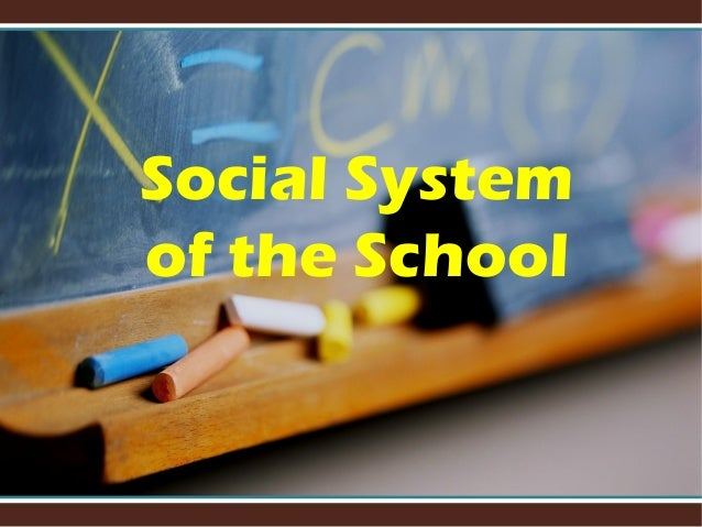 Social System of the School
