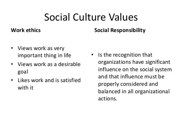 social cultural values have greater Social cultural or environmental impact caused by the people have been greater than they could have social and cultural values and even perhaps.