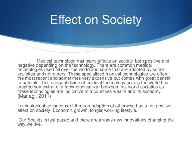 positive effects technology on our society