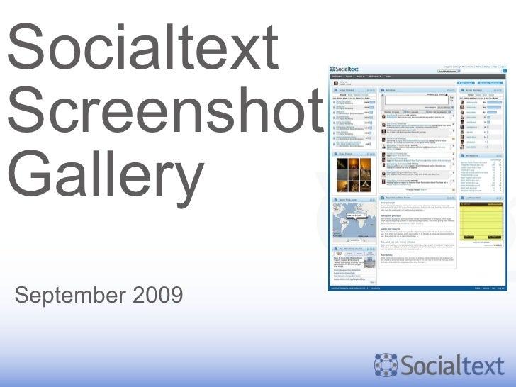 Socialtext Screenshot Gallery September 2009