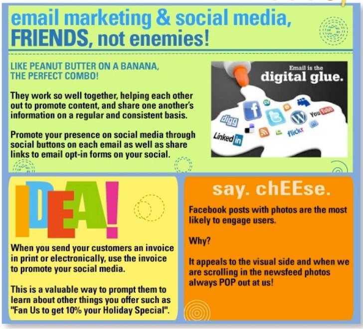 Social media and email marketing tips