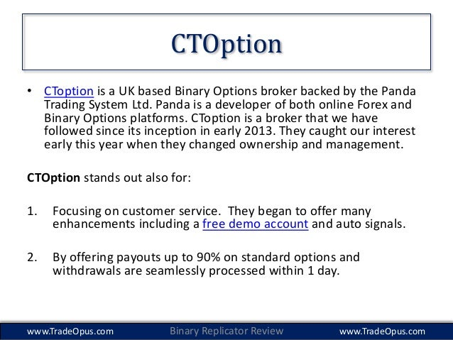 Forex replicator binary options