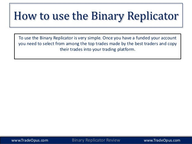 Binary options copy trading review