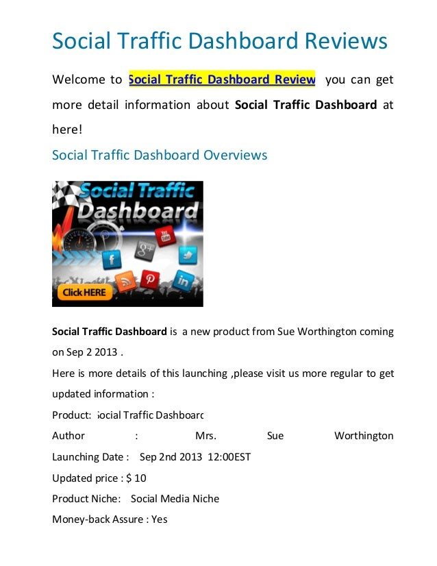 Social Traffic Dashboard Reviews Welcome to Social Traffic Dashboard Review, you can get more detail information about Soc...