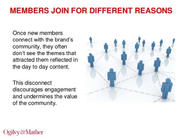 """MEMBERS JOIN FOR DIFFERENT REASONS Once new members connect with the brand""""s community, they often don""""t see the themes th..."""