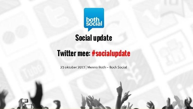 Social update Twitter mee: #socialupdate