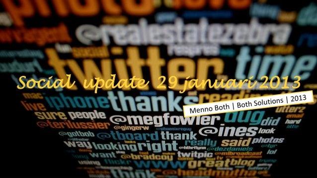 Social update 29 januari 2013