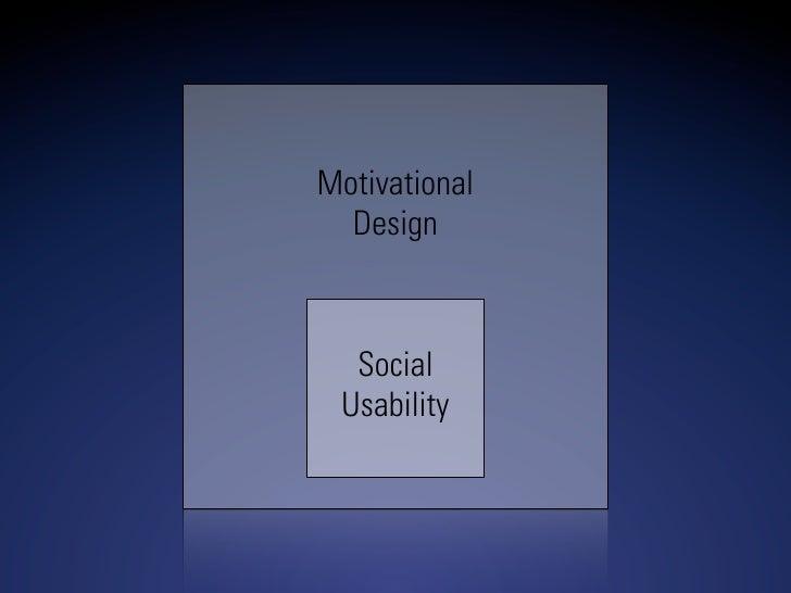 Motivational   Design      Social  Usability