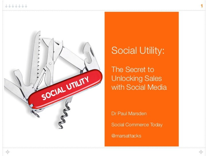 1                    Social Utility:                    The Secret to                    Unlocking Sales         TIL IT Y ...