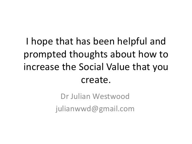 how to increase social value