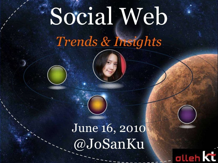 Social Web<br />Trends & Insights<br />June 16, 2010<br />@JoSanKu<br />